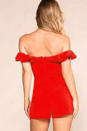 Shop Priceless | Red | Off The Shoulder | Romper | Womens