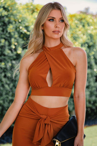Cindy Red Off The Shoulder Crop Top