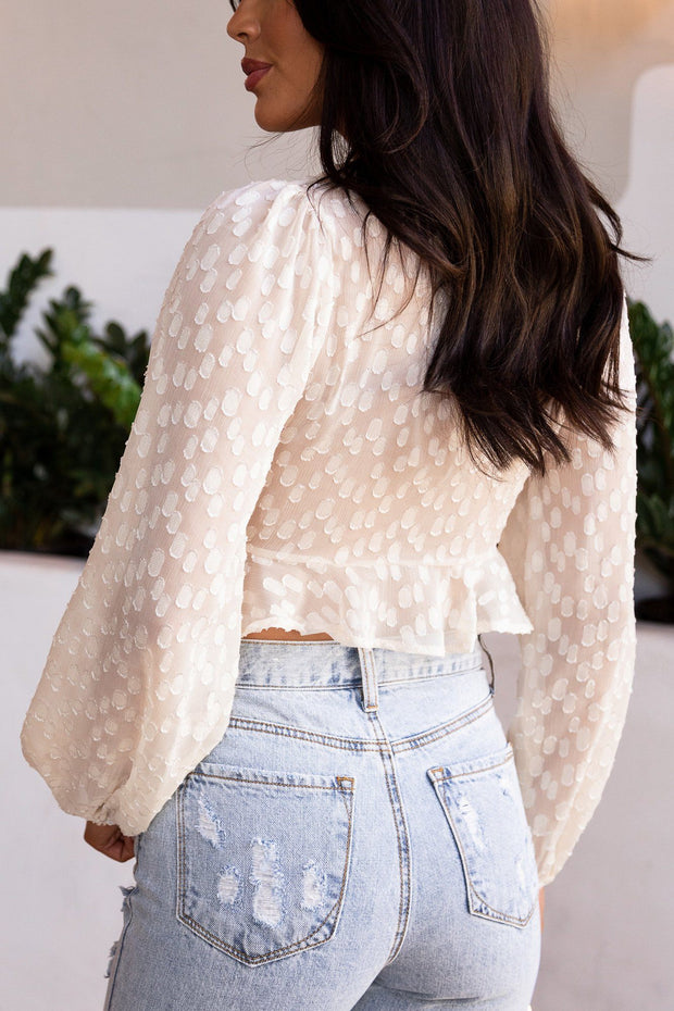 Tie-Front Ruffled Crop Top
