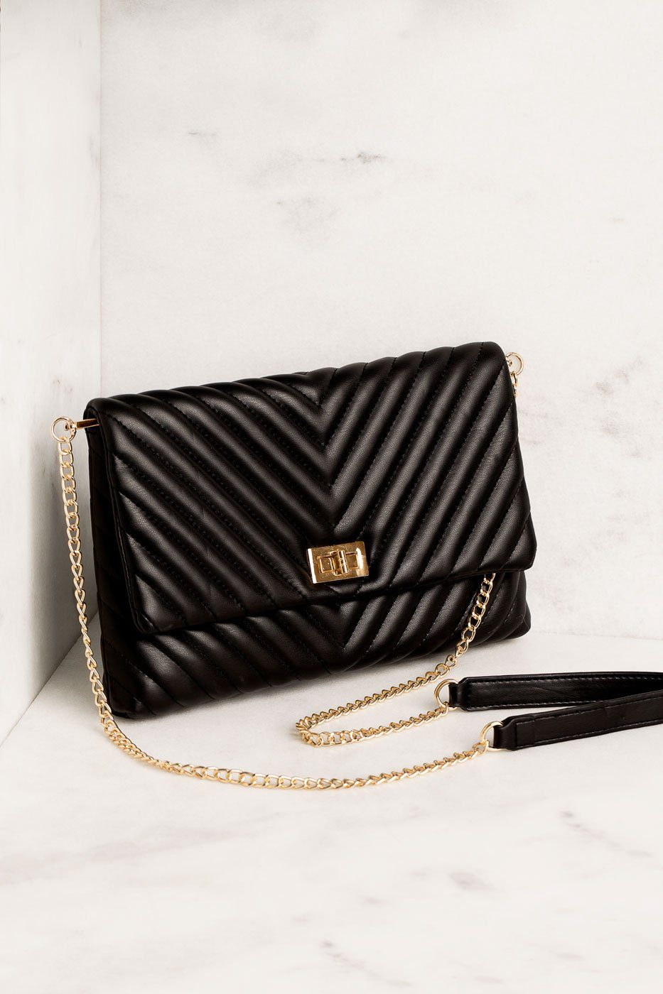 Priceless | Black | Chevron Handbag | Purse | Womens