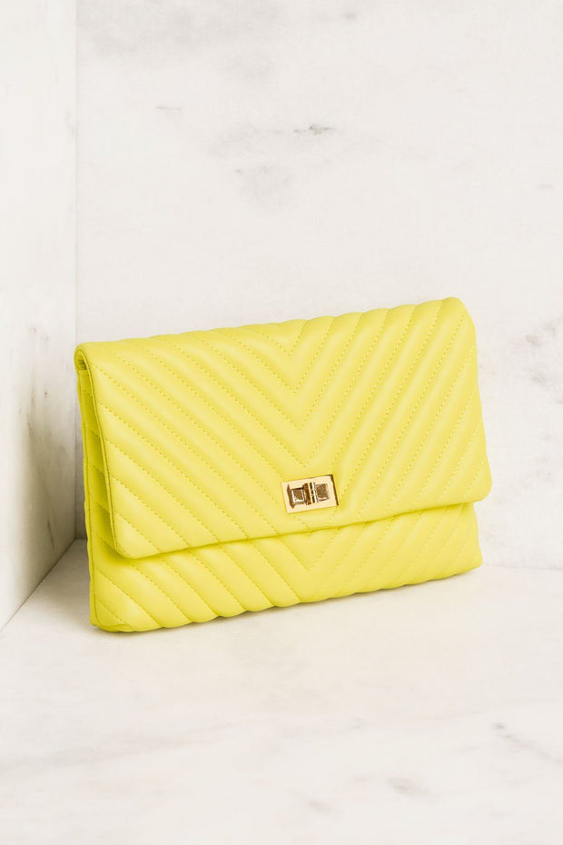 Lime Chevron Handbag