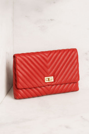 Priceless | Red | Chevron | Handbag | Accessories