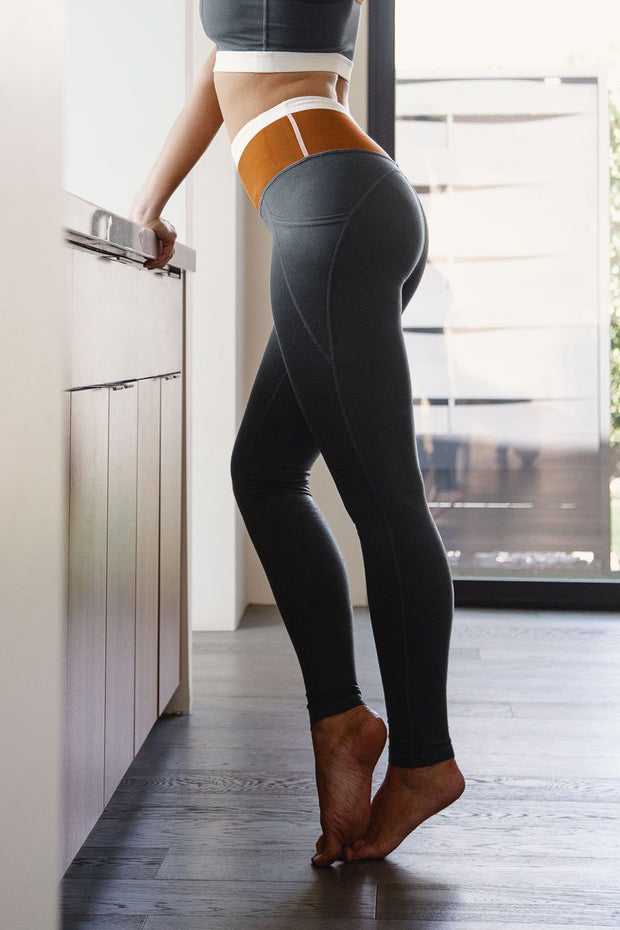 Camel and Grey Athletic Wear Pants