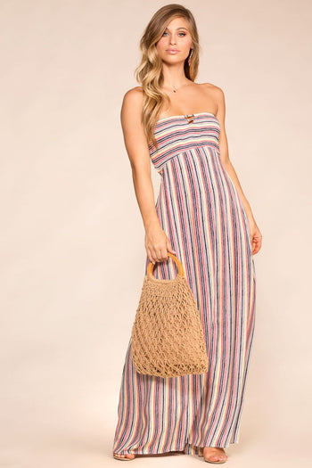 Playing Games Striped Maxi Dress | Hers & Mine
