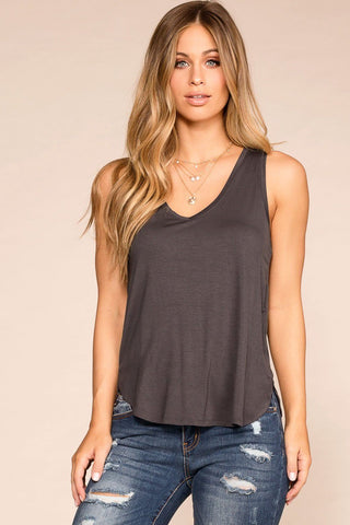 Easy Goes It Top - Taupe