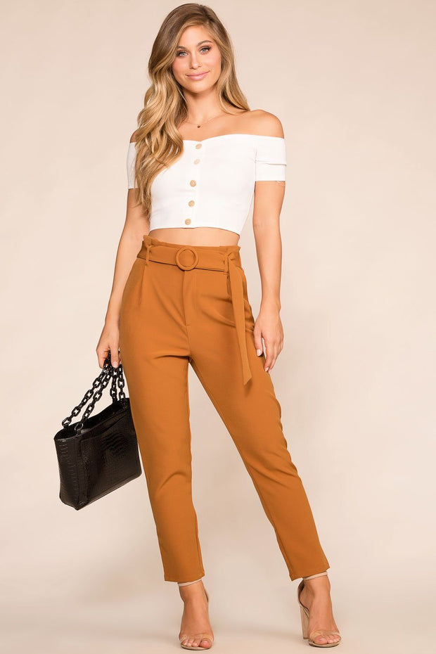 Shop Priceless | Camel | High Waisted Pants | Womens