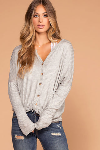 Warm And Fuzzy Heather Gray Cardigan