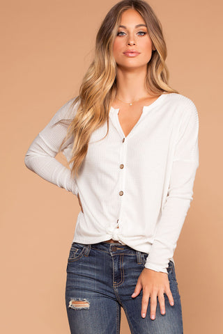 Jen Square Crop Top - White