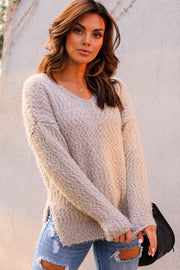 Taupe Knit Sweater
