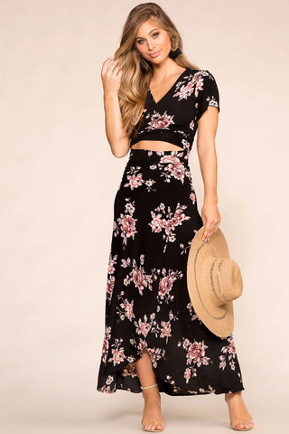Maisie Black Floral Sun Dress