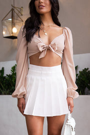 Rulebreaker White Pleated Skirt