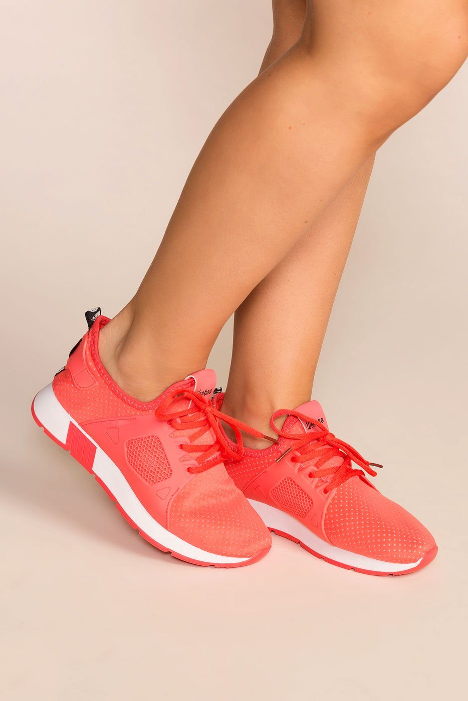 Running Circles Coral Sneakers by Priceless