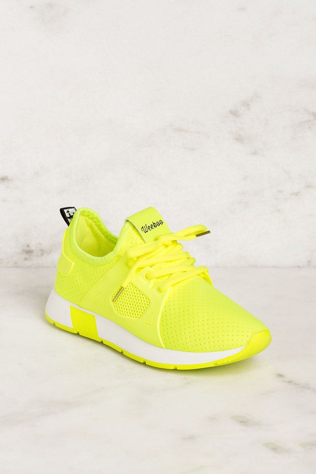 Running Circles Neon Lime Sneakers by