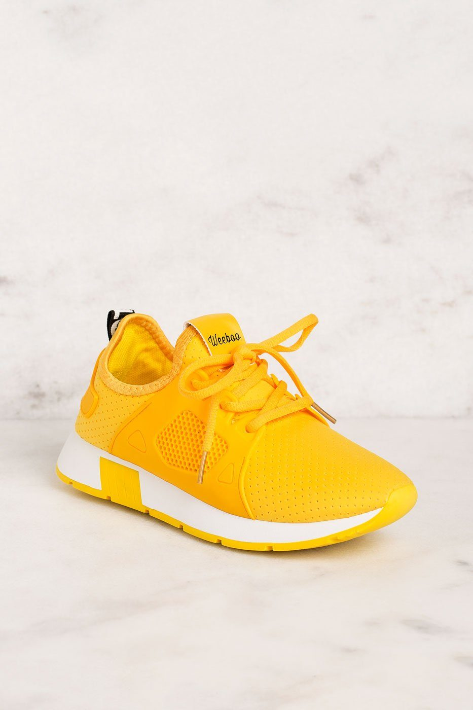Running Circles Yellow Sneakers by