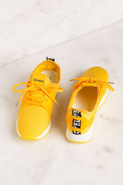 Running Circles Yellow Sneakers | Weeboo