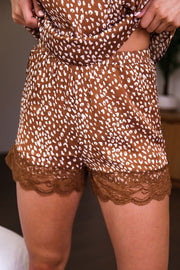 Tan Leopard Shorts