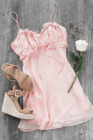 Kayla Blush Layered Skater Dress