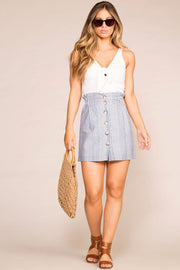 Sail Away Striped Paperbag Skirt | Hyfve