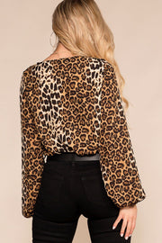Priceless | Leopard | Wrap Bodysuit | Bodysuit | Womens