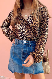 Sally Leopard Wrap Bodysuit