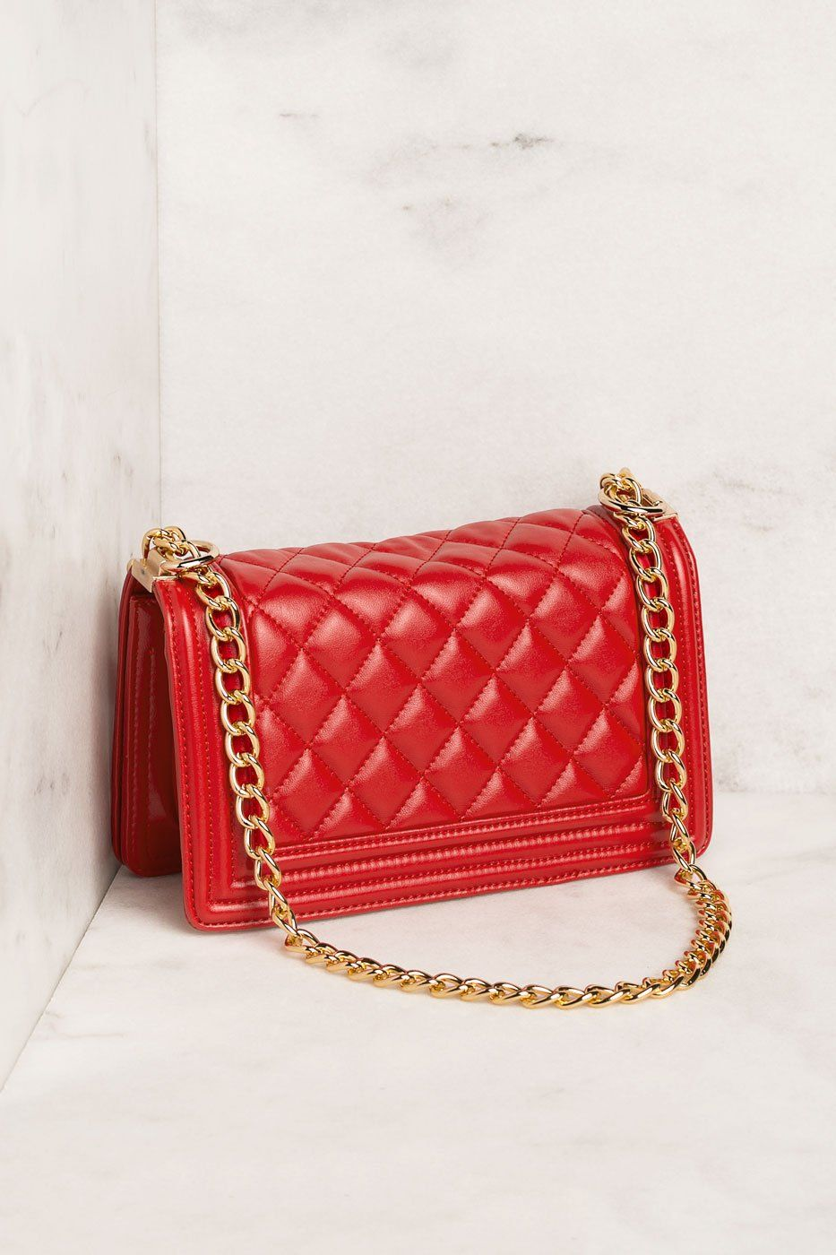 Priceless | Red Quilted Handbag | One Size