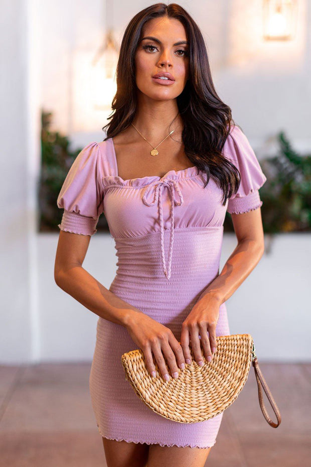 Saturday Feeling Mauve Dress
