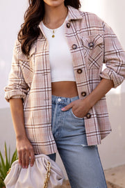 Beige Plaid Shacket