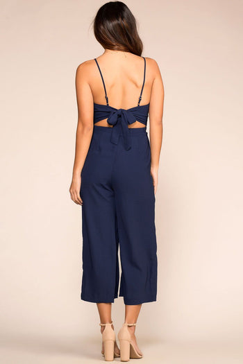 Priceless | Navy | Button Jumpsuit | Womens