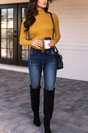 Mustard Ribbed Turtleneck