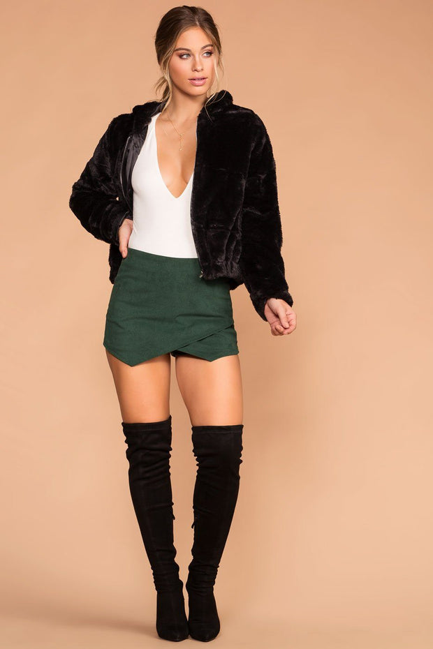 Sissy Hunter Green Corduroy Envelope Skort | Shop Priceless