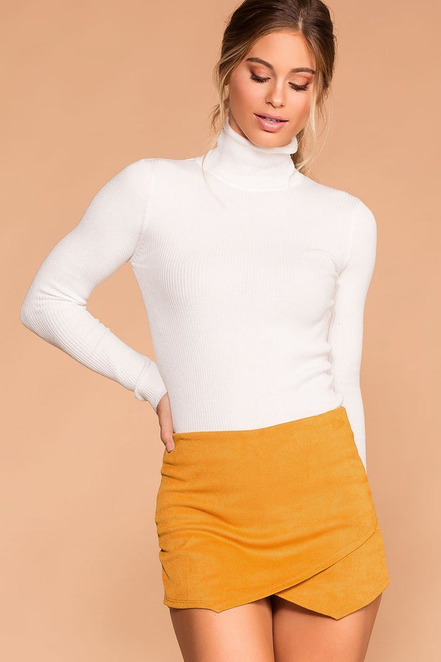Sissy Mustard Corduroy Envelope Skort | Shop Priceless