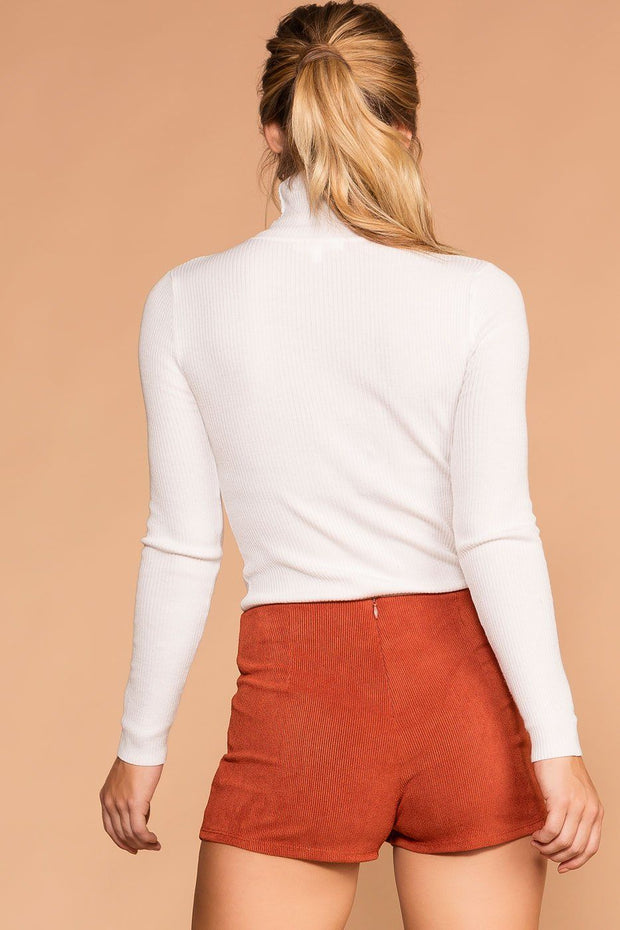 Sissy Rust Corduroy Envelope Skort | Blue Blush