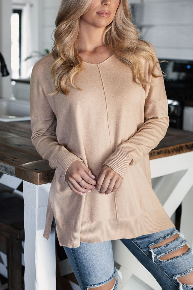 Taupe Oversize Top