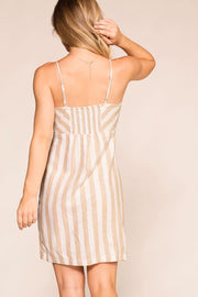 Shop Priceless | Khaki | Striped Dress | Womens