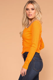 Priceless | Amber | Long Sleeve Crop Top | Ribbed Crop Top | Womens