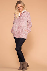 Priceless | Wine | Sherpa Pullover Jacket Top | Womens