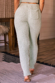 Sage Fuzzy Lounge Pants