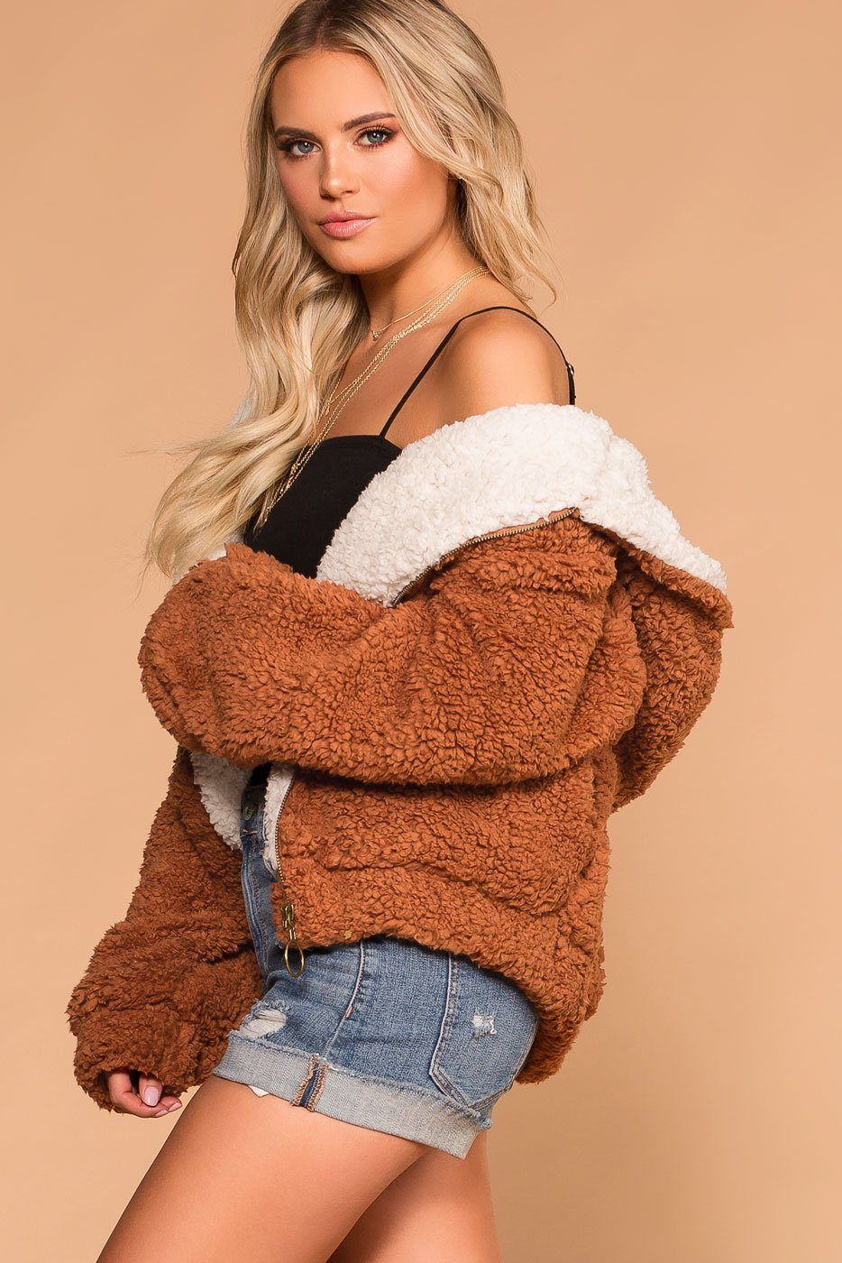 Snuggle Up Rust Bomber Jacket | Shop Priceless