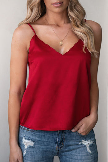 Ruby Red Satin Cami