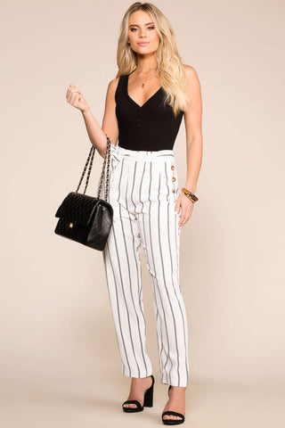 Belle Honey Highwaisted Linen Paperbag Pants