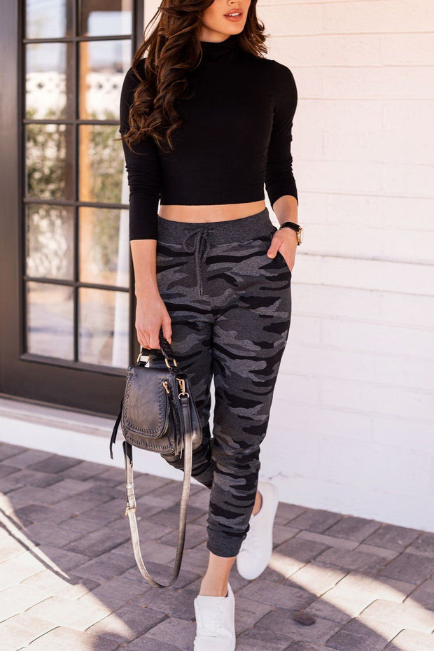 Sporty Spice Charcoal Camo Joggers
