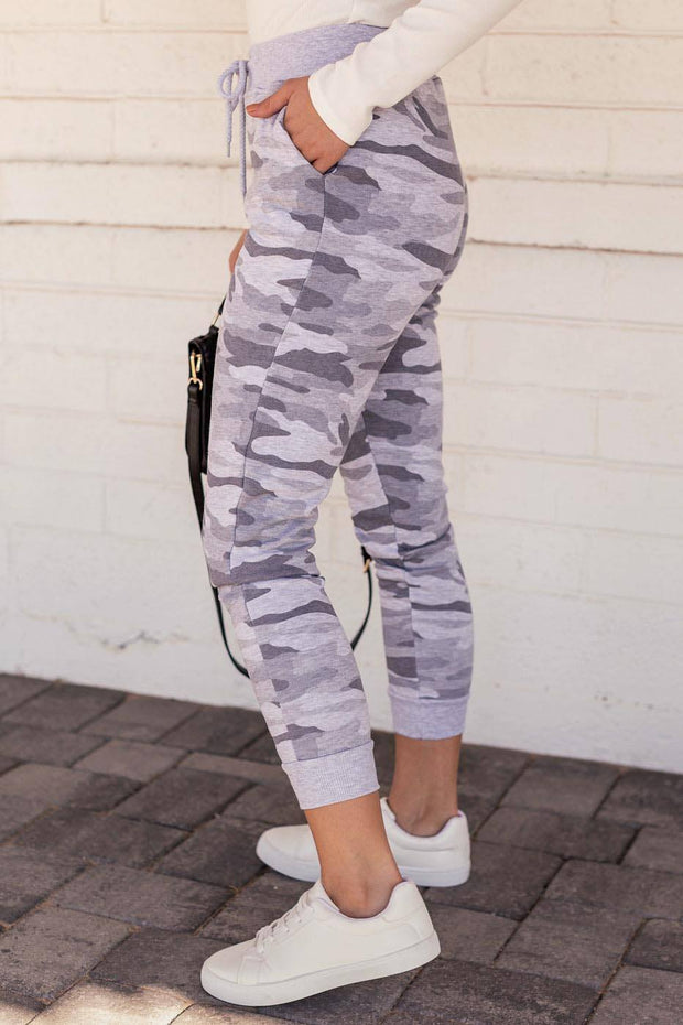 Light Grey Camo Joggers