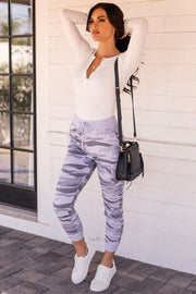 Sporty Spice Light Grey Camo Joggers