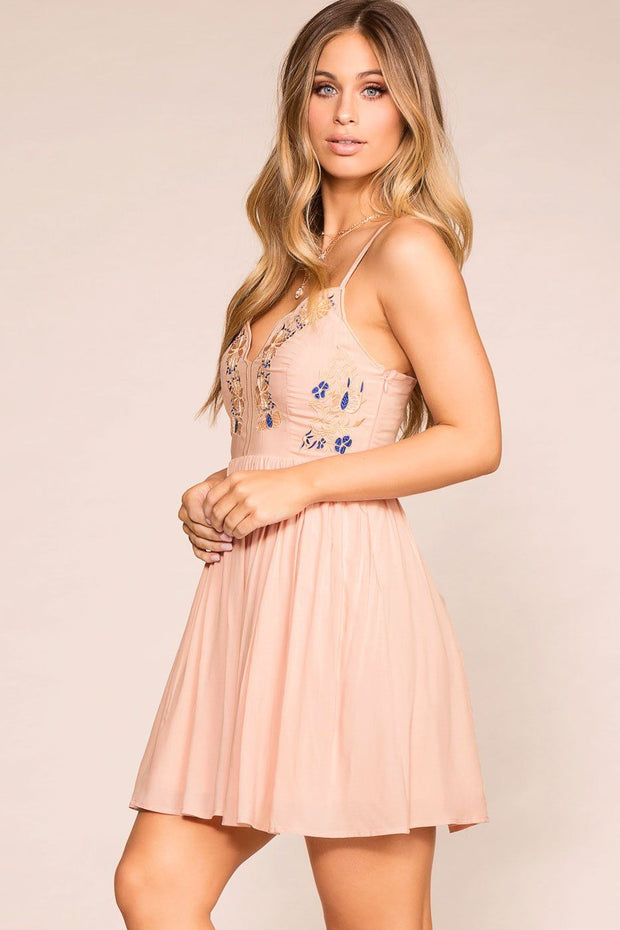 Priceless | Blush | Embroidered Dress | Womens