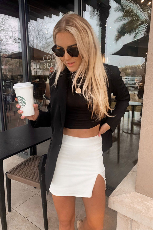 White Corduroy Skirt