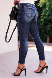 Distressed Denim Skinny Jeans
