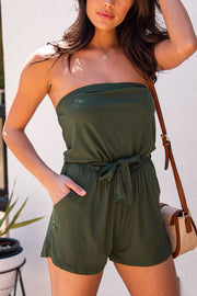 Sun Bather Olive Romper
