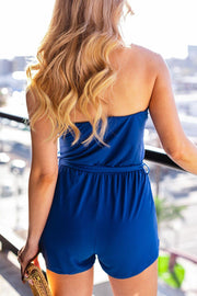 Royal Blue Off The Shoulder Romper