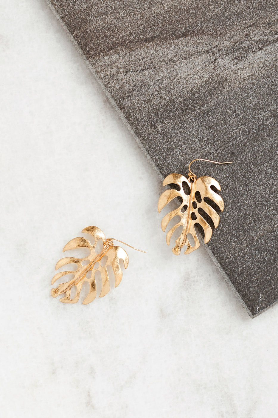 Priceless | Gold | Monstera Leaf | Earrings | Jewelry | Womens