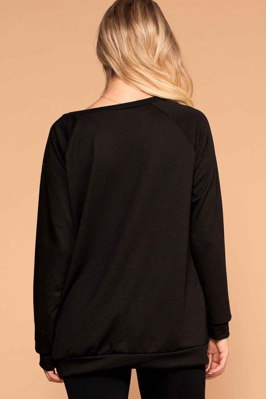 Priceless | Sunday Funday | Black Sweatshirt Top | Womens